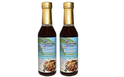 Coconut Secret Organic Raw Coconut Aminos Soy-Free Seasoning Sauce-8 Oz (2-Pack) by Coconut Secret