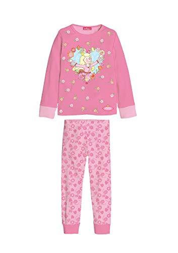 Schlafanzug Mädchen Prinzessin Rosa Pink (110/116)