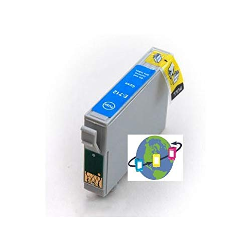 T0712 - Cartucho de Tinta Compatible con Epson - Cian