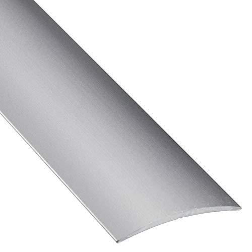 Gedotec Laminado transición - perfil piso curvo autoadhesivo riel transición de vinilo | Umbral puerta para pegar | Alu plata anodizada| Perfil 40 x 1000 mm | compensación aluminio - 1 pieza