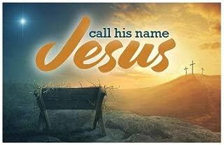 Call His Name Jesus (Mini Gospel Tract Card, Packet of 100, KJV)