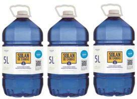 Solan de Cabras - Agua mineral natural 5L - Pack de 3 botellas
