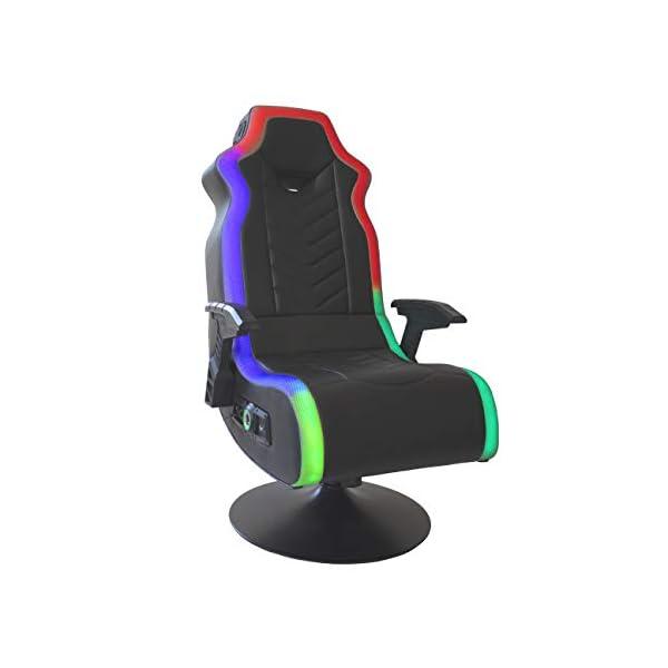 """X Rocker, 5152401, RGB Prism Pedestal Chair 2.1 Dual w/LED, 33"""" x 25"""" x 45"""",..."""