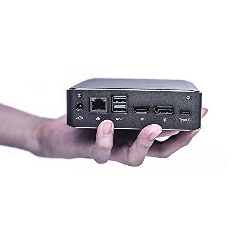 Kingdel A2 Poderoso Mini Computadora de Escritorio, 4K Mini PC, Intel i7 8ª generación CPU, 16GB DDR4 RAM, 512GB SSD+1TB HDD, HD, DP Port, 2 USB 3.0, Windows 10 Pro