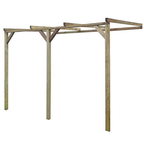 Xingshuoonline Pergola Wooden Lean-To Pergola 2 x 3 x 2.2 m Pergola Canopy Can also be used as a dining area or car port