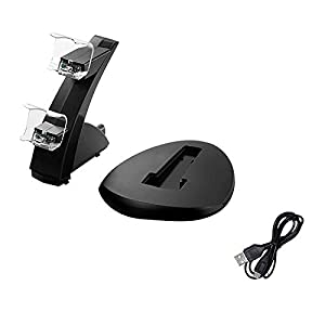 PIKAqiu33 LED Indicator Double Set USB Charging Dock Stand Charger for PS4 Controller, Small Appliances for Easter Day (As Show)