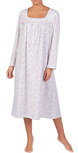 Eileen West Plus Size Floral Scroll-Print Jersey Ballet Nightgown (3X Plus, Viney Floral)