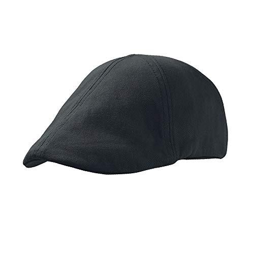 Gatsby Street Atlantis - Gorra boina ivy cap unisex color Negro - Talla única, sistema ajustable de hebilla.