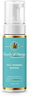 Touch of Hemp Premium Self-Tanning Mousse   Streak Free Self-Tanner Foam   Instant Color Quick Drying   Professional Formula   Organic Ingredients   Gorgeous Natural Golden Tan  The Best Self Tanner