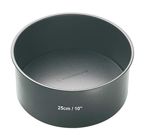 Master Class Tiefe runde Antihaft-Kuchenform mit losem Boden, Stahl, Grau, 25 x 25 x 8 cm