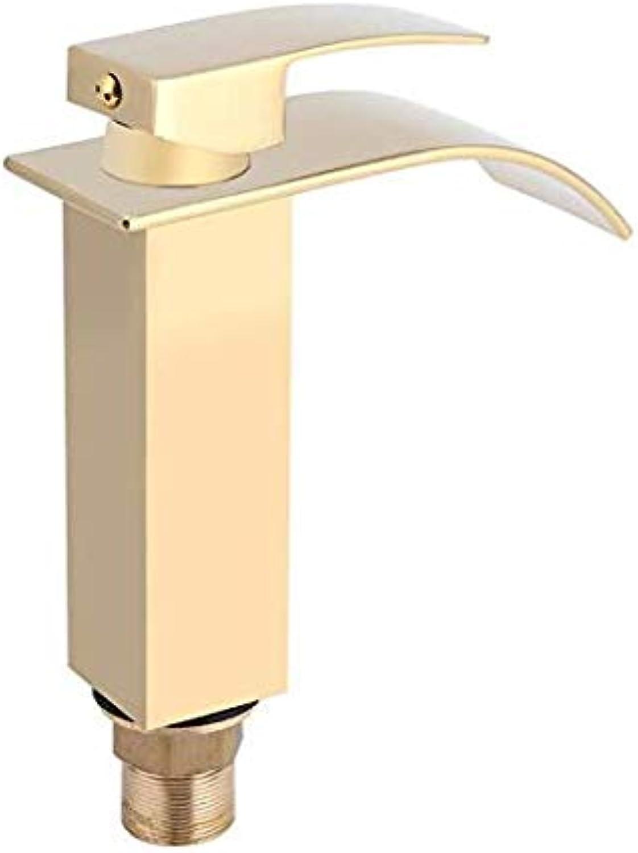 Retro Deluxe Faucetinging Faucet Brass Bathroom Faucet Waterfall Spout Faucet Single Handle Bathroom Basin Mixer Tap