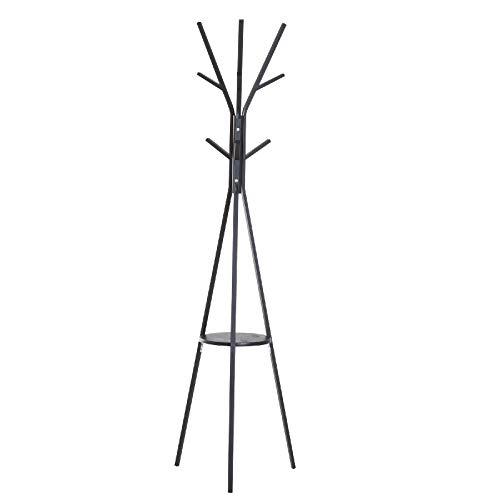 Yhjkvl Perchero para abrigos, 45 x 45 x 180 cm, color negro...
