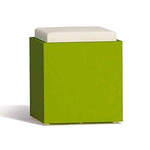 Tkm Pouf Square in Resina Quadrato 40x40 CM Verde