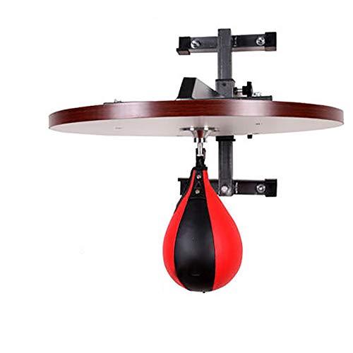 Piattaforma pesante da boxe Speed Ball MMA Regolabile In Altezza Il Tubo Di Spessore Parete E Boxing Consiglio Speed Ball Platform Training Di Resistenza Punching Bag in pelle stand allenamento alle