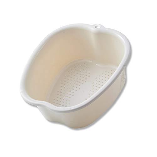 Lavabo para pies, pediluvio SPA, plástico resistente a la corrosión pediluvio, pies de masaje desintoxicante, 8 colores (white)