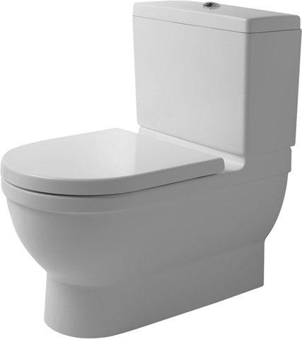 Duravit Big Toilet Starck 3 74cm Tiefspüler, ohne Spülkasten, ohne Dekel, weiß 2104090000