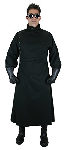 Historical Emporium Men's Cotton Twill Mad Scientist Howie Lab Coat S Black - http://coolthings.us