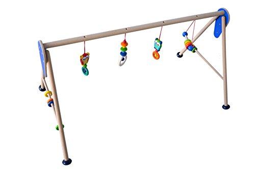 Baby Spiele Trapez für Zwillinge extra breit aus Holz Motiv Eule