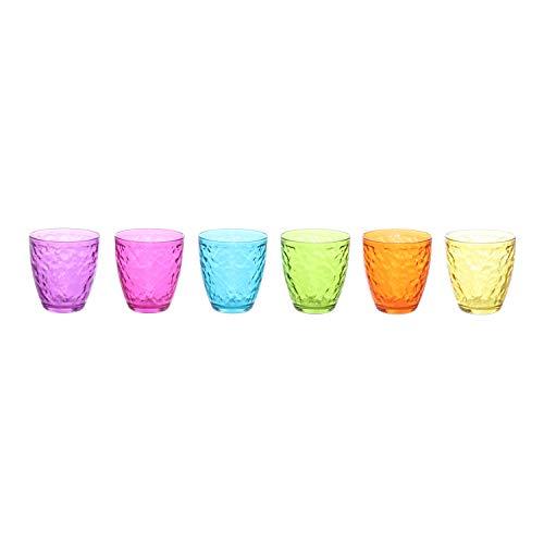 Set bicchieri Pasabahce colorati in vetro, 6 pezzi Multicolore