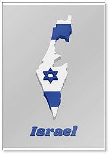 Kühlschrankmagnet, Motiv: Flagge von israelischen Karten