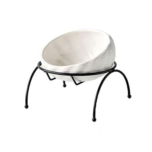【 食べやすい形状 】iikuru 猫 食器 陶器 フードボウル スタンド 脚付 セット 食べやすい 猫用 ねこ 食事 皿 傾き 子猫 餌入れ 器 食器台 ペット食器 おしゃれ y608