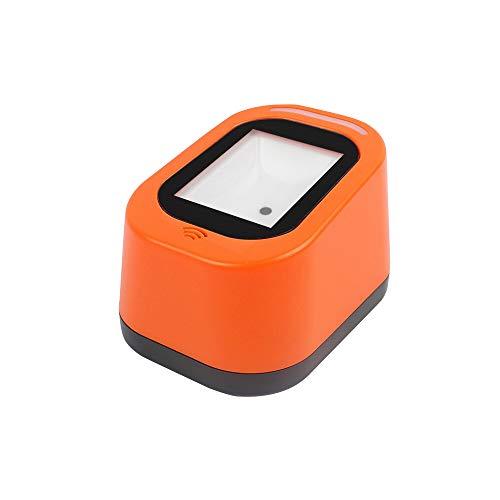 Docooler Escáner de código de Barras con Cable Escaneo versátil USB Escaneo de Manos Libres Código QR 1D y Lector de código 2D para supermercados/Tiendas