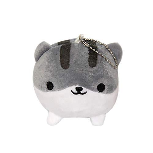 Lajboo Plüschpuppe Schlüsselanhänger Charme, niedliche Katze Plüsch Schlüsselanhänger Spielzeug Geschenk