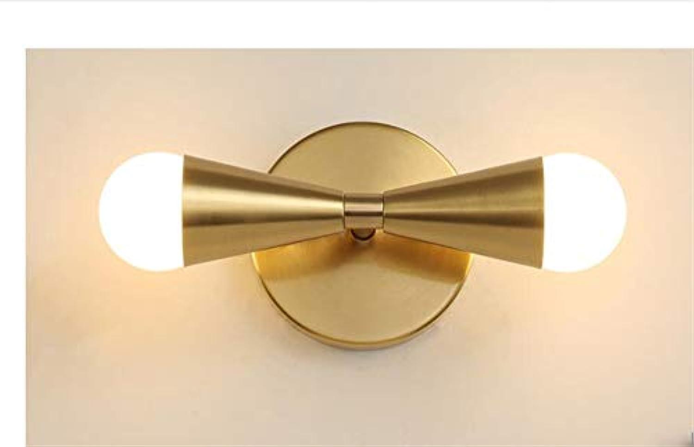 Aussenlampe Wandbeleuchtung Wandlampe Wandleuchte Innen Nordische Messingflurlicht-Luxuxeinfache Glaskugel