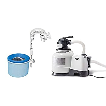 Intex 3000 GPH Pool Sand Filter Pump with Automatic Timer & Automatic Skimmer