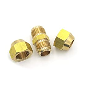 Extensión de tubo de cobre para aire acondicionado, para junta doble, conector intermedio de conexión de cabeza libre de soldadura de cobre, diámetro de tubo de 6 – 19 mm tuerca de llamarada