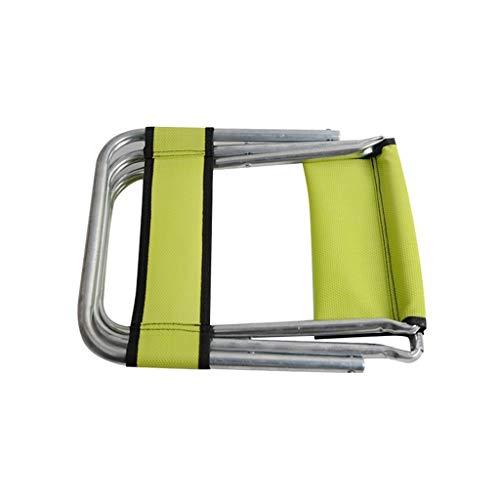 Falte Angeln Hocker, Rückenlehne Kleiner Hocker Schlaf Hocker Außen Hocker Tragbare Picknick-Bank Camping Hocker (Color : Green)