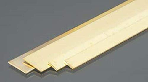 Brass Strips, .032 x 1/4 x 1/2, 12' Bendable