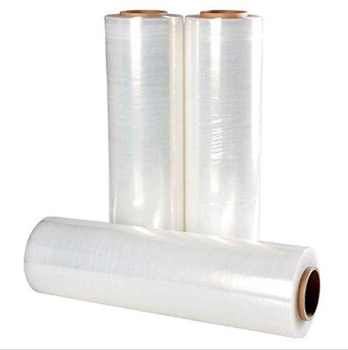 3 Rollen Stretchfolie Palettenfolie Verpackungsfolie Umzugsfolie 23 my 2,5 kg Transparent