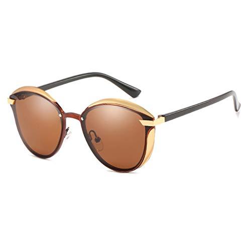 NA. Nangjiang - Gafas de sol para mujer con protección UV, estilo vintage, para conducir