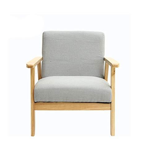 Schlafzimmer Faule Sofa for Wohnzimmer, Schlafzimmer, im Club, Büro Mid-Century Retro Holz Lounge Chair Stoff Gepolsterte Sessel Hohe Zurück Home Kleine Wohnung Wohnzimmer