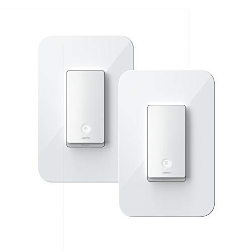 Wemo Wi-Fi Light Switch 3-Way 2-Pack Bundle - Control Lighting from Anywhere, Easy In-Wall Installation, Works with Alexa, Google Assistant and Apple HomeKit (WLS0403-BDL) (Renewed)