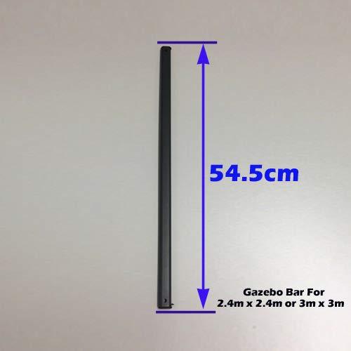 unbeatableoffers Gazebo Replacement/Parts: Metal Strut Gazebo Pole For 2.4m x 2.4m or 3m x 3m (54.5cm, Black)