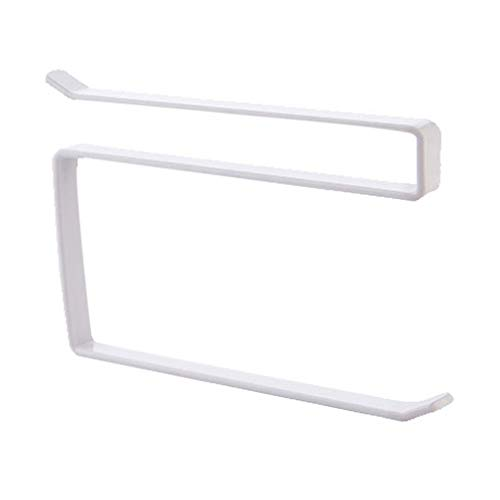 Nrew Gabinete de Puerta Simple para Colgar Toallero de Papel Perforado Libre HS Hierro Forjado Blanco
