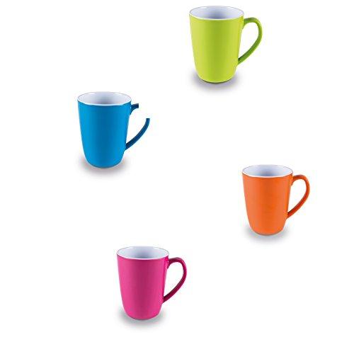 #11 Melamin Tassenset in frischen Farben 4 Stück aus spülmaschinengeeignet bunt Campinggeschirr Geschirr Personen Picknick Camping Geschirrset