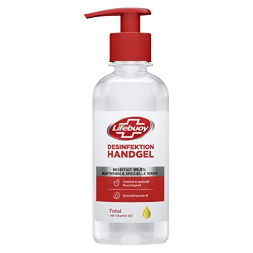 Lifebuoy Handdesinfektionsgel beseitigt 99,9 Prozent der Bakterien und spezielle Viren mit Vitamin B3, 1 Pumpspender (1 x 250 ml)