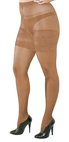 WOOTI TIGHTS Collant RUSTICA 20 den colore COSMETIC, taglia S, per taglie forti, costruito per consentire il massimo comfort e adattabilità alla silhouette