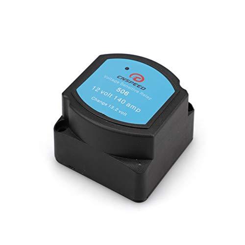 SHOUNAO Relé Sensible al Voltaje 12V 140A Aislador de Dual Batería Aislador Protección de relé VSR Voltaje Split Carga Ajuste para EL Barco Marino AUTOMOTRIVO