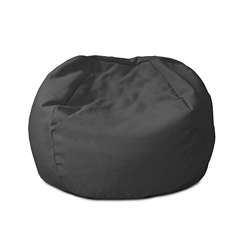 rucomfy Beanbags Indoor Outdoor Small Kids Bean Bag. Childrens Outside Garden Chair. Pre Filled Water Resistant & Durable. 50cm x 65cm (Slate Grey)