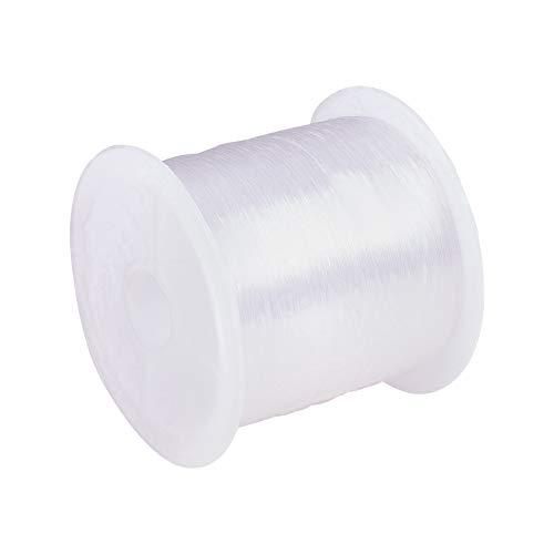 PandaHall 1 x Filo Nylon Filo Pesca Filo di Gioielli, Colore Bianco, Circa 0.2mm di Diametro, 130m/ Rotolo