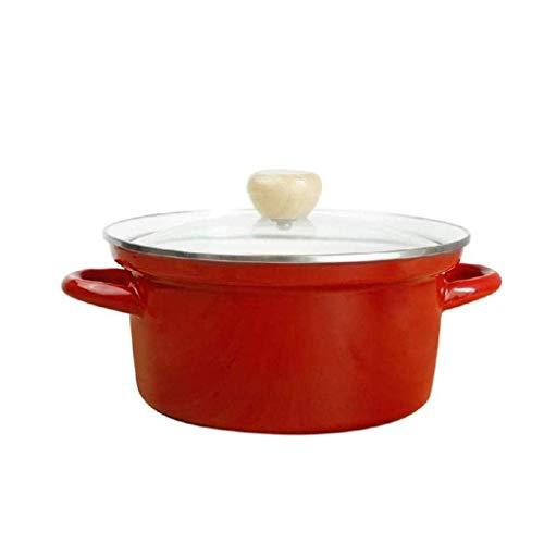 YWSZJ Grand Cocotte induction Pan avec couvercle en verre trempé, Cook Marmite, Convient for tous les types Hob