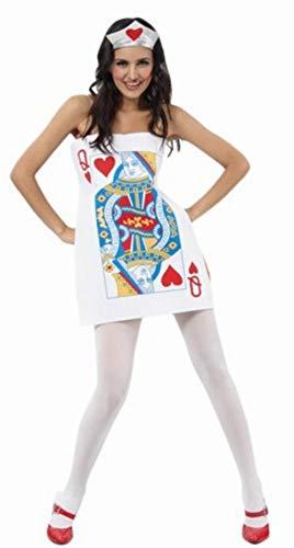 Disfraz de Carta Dama de Corazones para mujer (talla U)