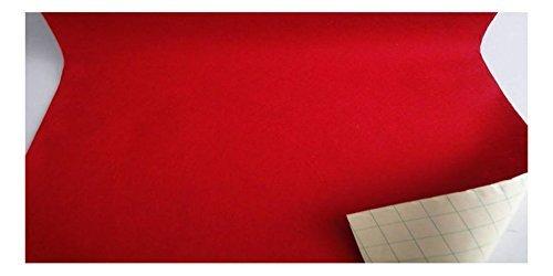 Fabrics-City Tessuti di Lana Feltro Adesivo in Feltro Autoadesiv Rosso, 2736