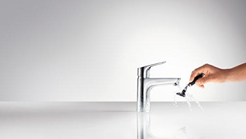 Hansgrohe – Einhebel-Waschtischarmatur, mit Zugstangen-Ablaufgarnitur, CoolStart, Chrom, Serie Focus 100 - 2