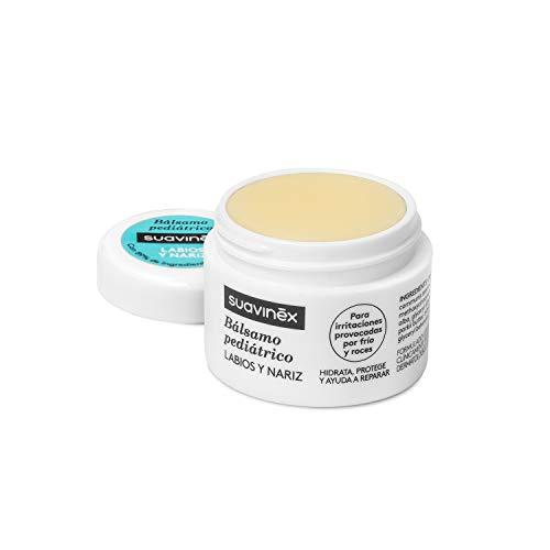 Suavinex – Bálsamo Pediátrico para bebés. 100% Ingredientes de Origen Natural. Bálsamo de labios y nariz. Hidrata, Protege y Repara irritaciones, 10ml