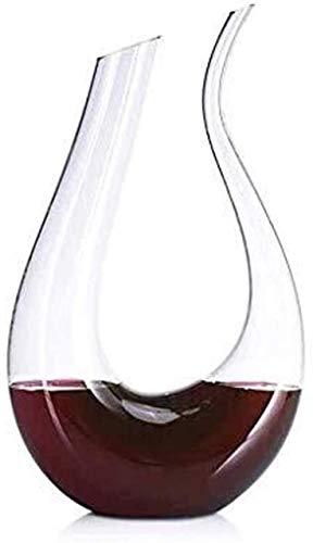 Personalidad Decantador de vino y gafas Set de vino Anter de vidrio en forma de vidrio Transparente Profesional Anter Aerador de vinos Tinto Vino CARAFE Accesorios Regalos para el hogar Bar Restaurant